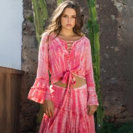 Blouse Tie Dye Isla Ibiza - Roze