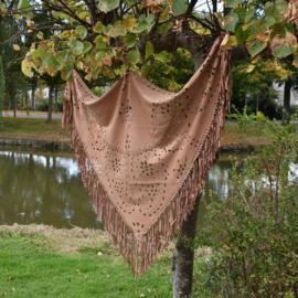 Bohemian sjaal - Cognac