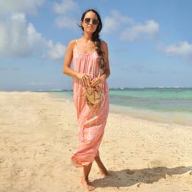 Maxi dress Anna Moonstone Coral - Hot Lava