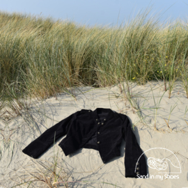 Jacket short black velvet- Isla Ibiza