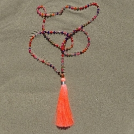 Necklace - Orange - Bali Touch
