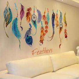 Muur decoratie - Veren