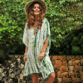 Dress Bibi Desert - Green, Hot Lava