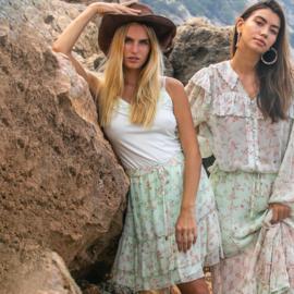 Skirt Midi Flowers Mint 8120817 - Isla Ibiza Bonita