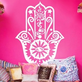 Muur decoratie - Hamsa hand - size M - Sand in my Shoes