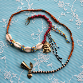 Necklace multi color Buddha -Isla Ibiza Bonita