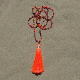 Necklace - Orange / Multi Colour - Bali Touch
