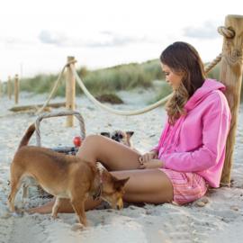 Hoodie met schelpjes, Pink - Isla ibiza Bonita