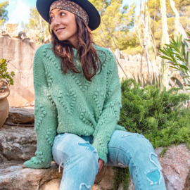 Trui Hearts Vintage Turquoise 8220300 - Isla Ibiza Bonita