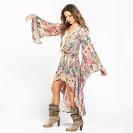 Maxi Jurk Vintage Bloemen Savage Culture - Oud Roze