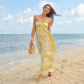 Dress Antibes moonstone, yellow - Hot Lava