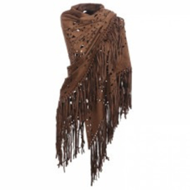Bohemian sjaal - Dark Brown