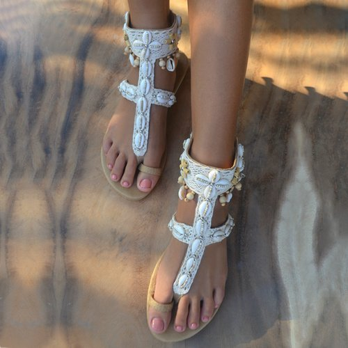 Lush Ivory sandal - Hot Lava