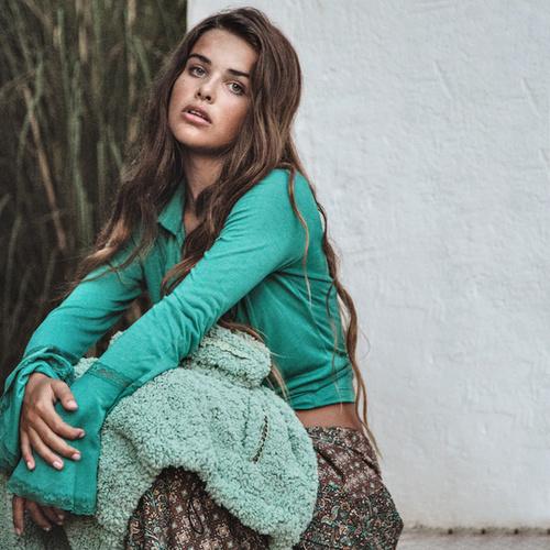 Boho Blouse Ruffled – Turquoise 8220608, Isla Ibiza Bonita