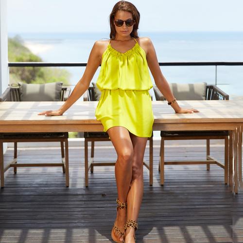 Dress Long Island, Lime - Karma by Hot Lava