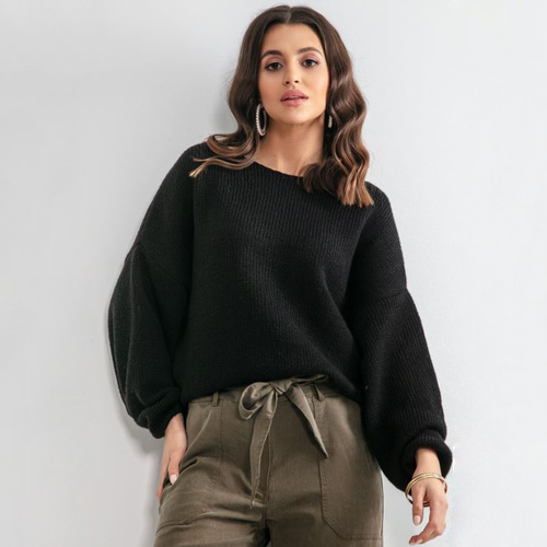 Sweater weather, Color Black Fobya F1159