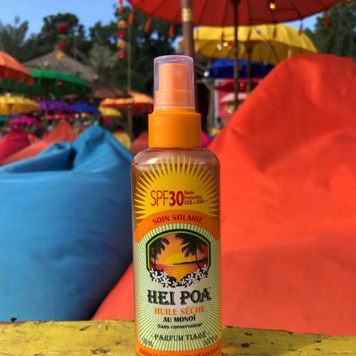 Sun oil SPF 30 Tiare spray -  Hei Poa