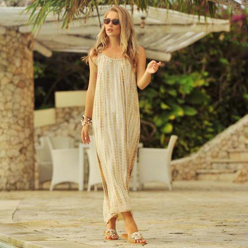 Maxi dress Anna Moonstone, Taupe - Hot Lava