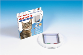 Cat Mate Kattenluik Rond Wit 210 - deur tot 30mm
