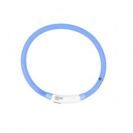 Hondenhalsband Flash Ring Licht USB - Silicone - Blauw - 45cm