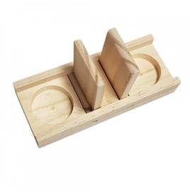 Knaagdierspeelgoed Houten Sniffle `n Snack Puzzel Edd 18x7x2,5cm