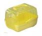 Transportbox xxs geel 14,5x10,5x10,5cm
