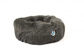 Donut Bed met Lang Haar 55x30x17cm grijs