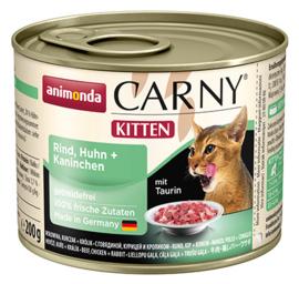 Carny Kitten Rund, Kip & Konijn 200gr