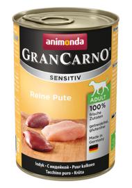 Grancarno Sensitive Pure Kalkoen 400gr (Hypoallergeen/1 eiwitbron)