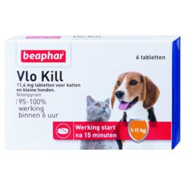 Beaphar Vlo Kill - tot 11kg - 6st (Hond/Kat)