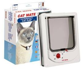 Catmate Kattenluik Electromagnetische Kattendeur Wit