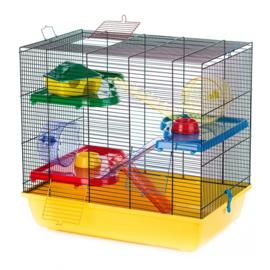 Hamsterkooi Teddy 2 Gigant Geel/Zwart 58x38x55cm €65,-