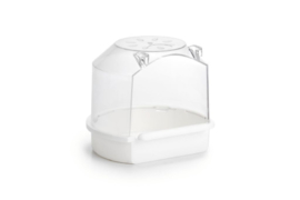 Plastic badhuisje, wit, rond 13 X 12 X 12 cm