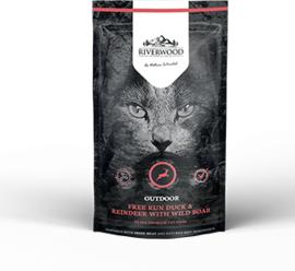 Riverwood Kat Graanvrij, Outdoor (Eend, Rendier en Wild Zwijn) 300 gram
