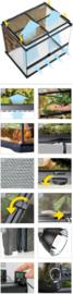 Exo Terra Terrarium 90x45x90cm - incl. achterwand