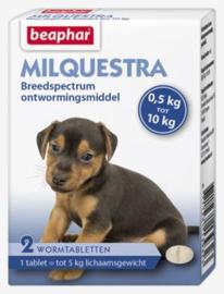 Milquestra wormtabletten kleine hond / pup 2 tabl.