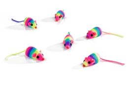 Speelmuisjes Rainbow, 6 stuks