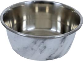 Hondenbak RVS deco marmer, 950 ml