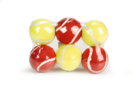 Tennisbal 6st - Hondenspeelgoed - 6,5 cm