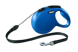 Flexi Rollijn New Classic M Cord Blauw 8 m
