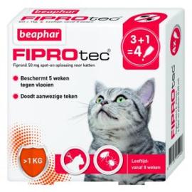 Beaphar Fiprotec Vlooiendruppels Kat 3 + 1 stuks
