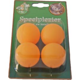 Plastic Katten Speelballetjes, Oranje