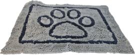 Droogloop Mat Grijs met Poot Medium, 76x53 cm
