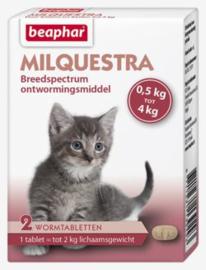Milquestra Wormtabletten Kleine Kat/Kitten 2 tabl.
