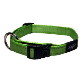 Rogz halsband Nitelife 20-31cm groen
