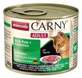 Carny Adult Rund, Kalkoen & Konijn 200gr