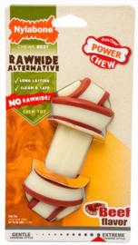 Nylabone Dura Chew Rawhide Knoop Rund Smaak - 12cm