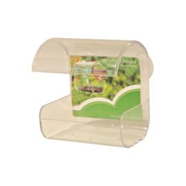 Plastic Window Feeder met 2 Zuignappen voor Buitenvogels