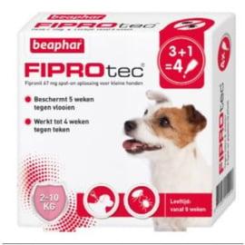 Fiprotec Vlooiendruppels Hond 2-10kg 3 + 1 stuks