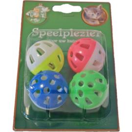 Plastic katten Speelballetjes met Bel